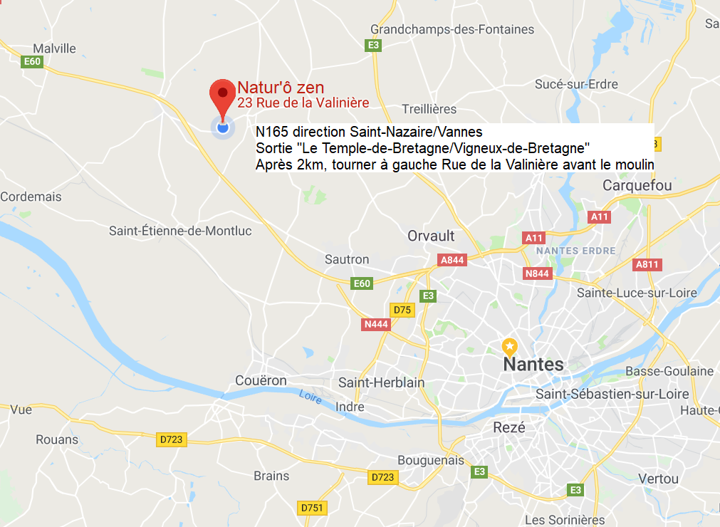 Naturozen - accès facile depuis Nantes